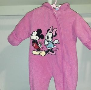 Snow suit by Disney. 6 to 9 mos. Mickey & Minnie